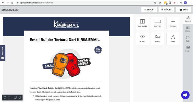 Preview Email Builder Terbaru Dari KIRIM.EMAIL - 1
