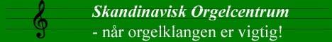 Skandinavisk orgelcentrum banner