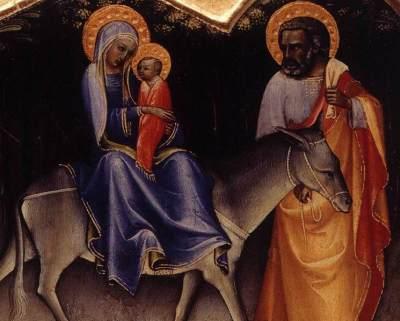 Den hellige familie malet af Lorenzo Monaco omkring år 1400