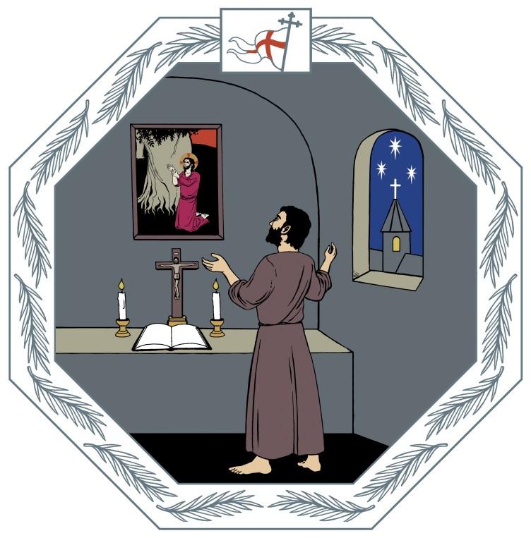 Kirkkovuoden kuva rukoussunnuntaista