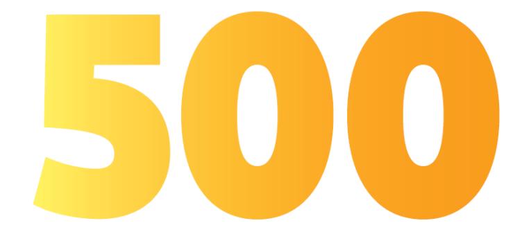 Numero 500.