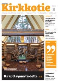 Kuva Kirkkotie-lehden 8/2021 kannesta. Kansikuvassa on Paaterin kirkko sisältä kuvattuna.
