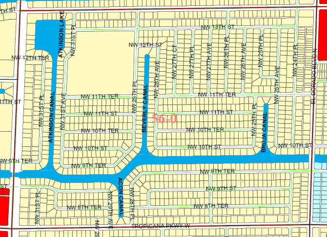 Streets Of Cape Coral Map