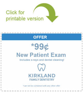 99¢ New Patient Exam