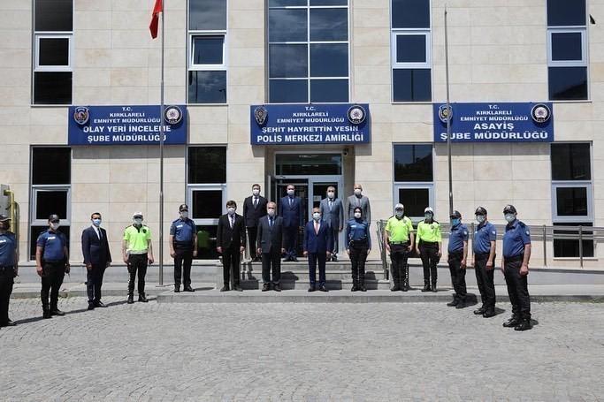 Kırklareli Valisi, polis ve jandarma ekiplerinin bayramını kutladı