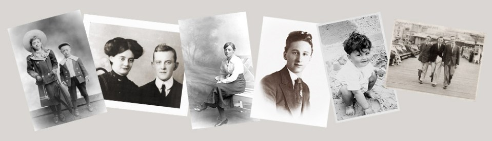 Compilation of old photographs