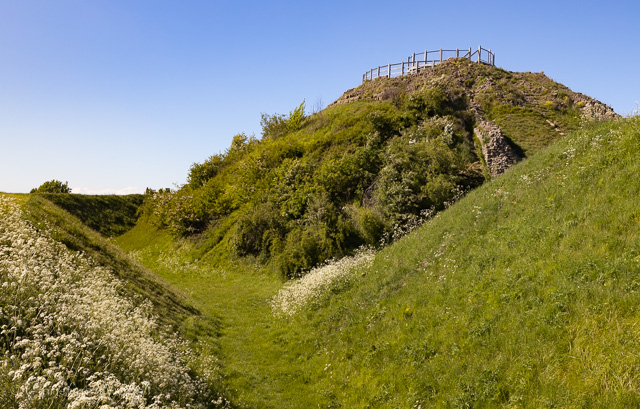 Outer ditch and Motte © C Widdall