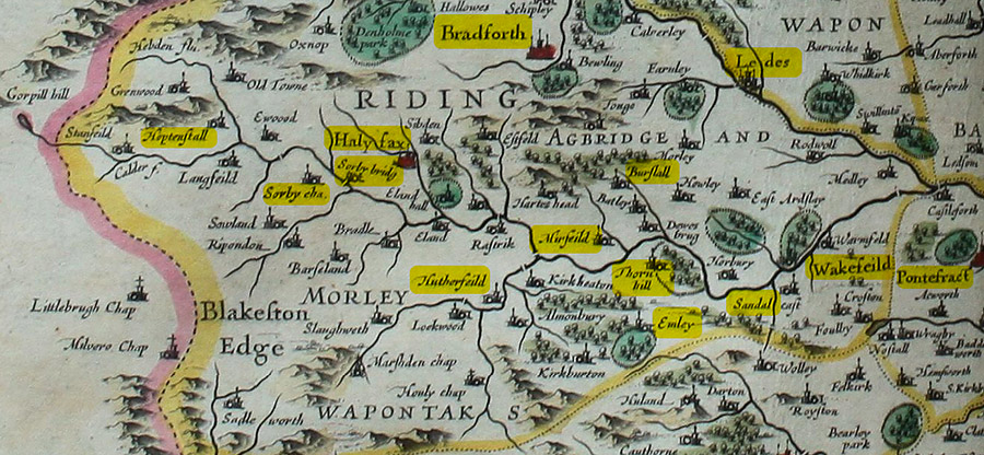 Map WR 1600s edit © C Widdall