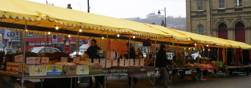 Batley Market stalls