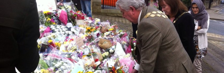Mayor of Kirklees paying respects to Jo Cox