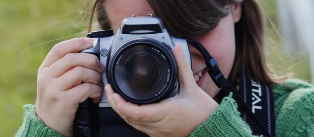 Oakwell Hall photographic competition - image of girl with a camera