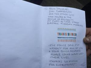 thank you card for hero bin men
