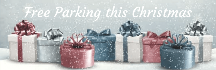 christmas presents in the snow