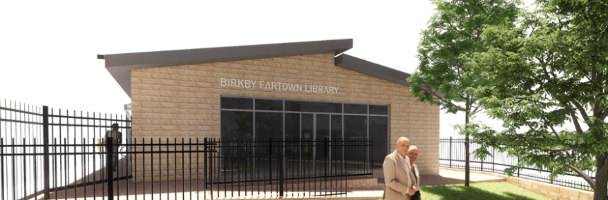 Artists impression of Birkby Library