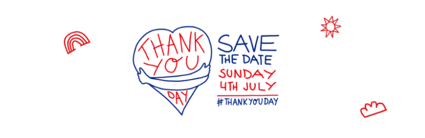 Save the date. Thank you day Sunday 4th July