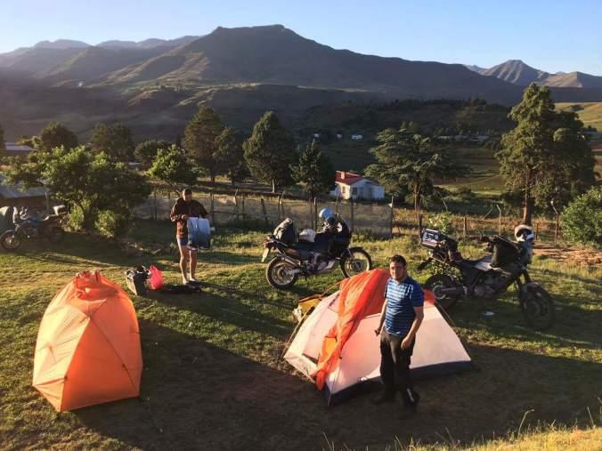 Tenting at Romabanta