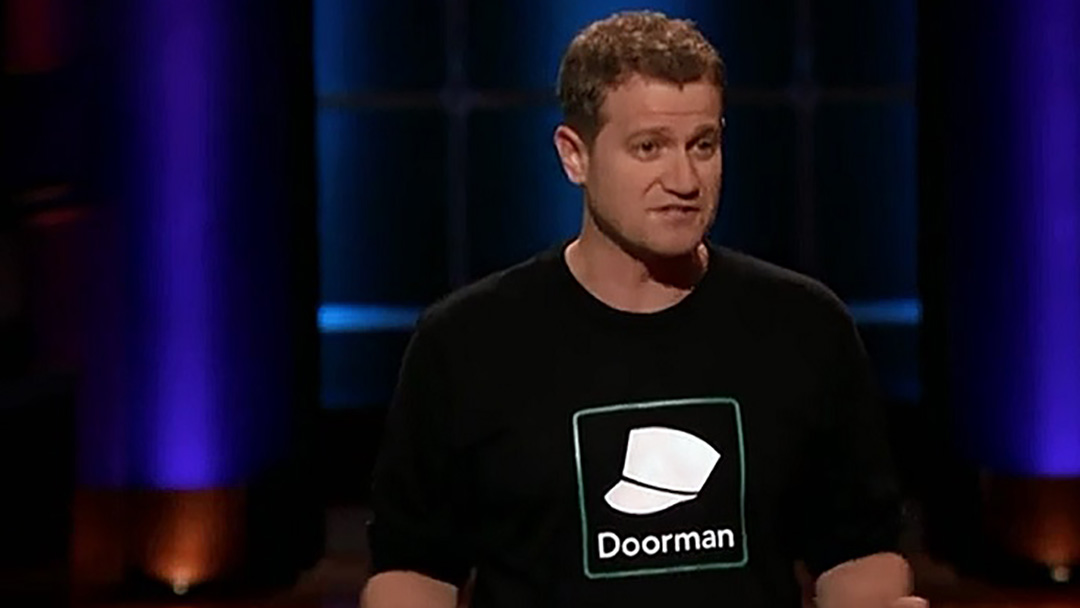 Doorman delivers package deal on Shark Tank with Robert Herjavec