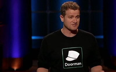 Doorman delivers package deal on Shark Tank with Robert Herjavec