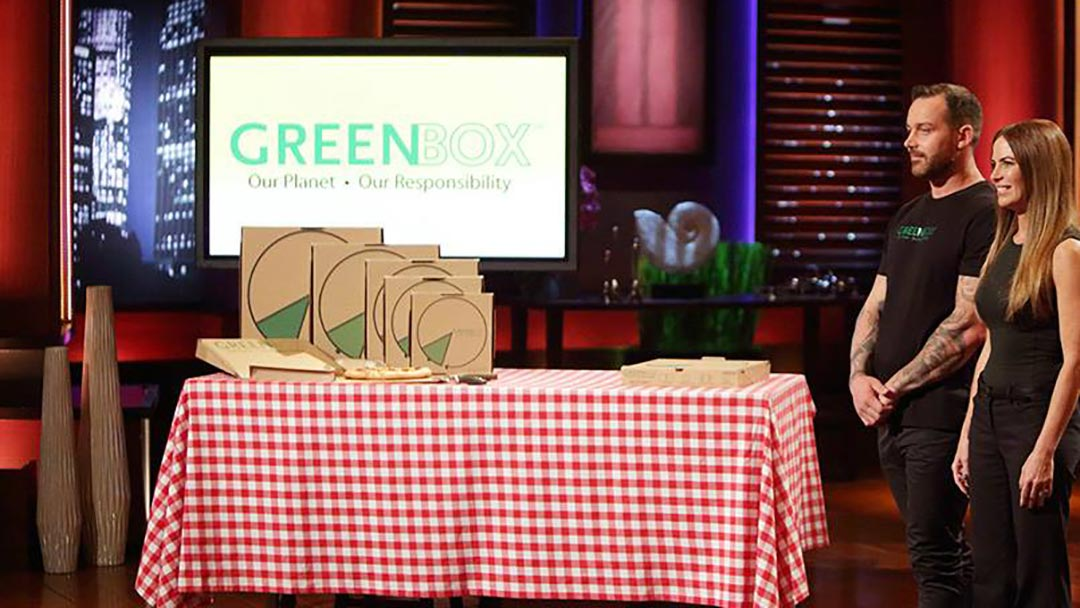 GreenBox Pizza Box with plates scores after Shark Tank Kevin O'Leary Success