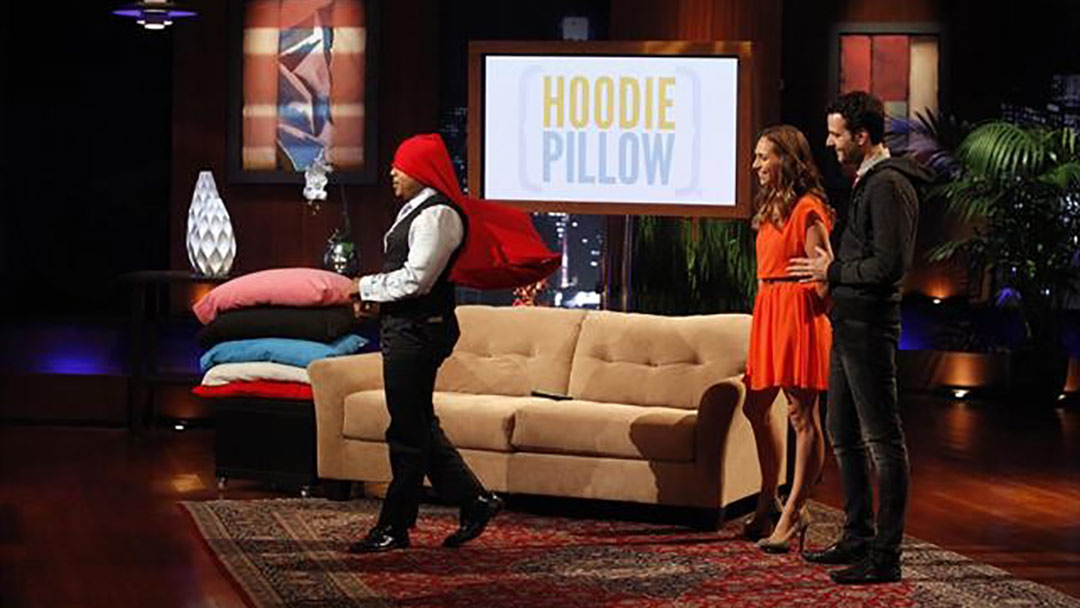 Hoodie Pillow Rebecca Rescate Robert Herjavec Shark Tank Deal
