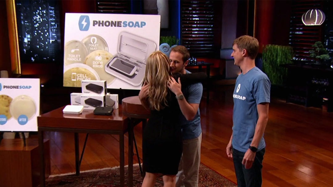 PhoneSoap Cleans up the phone and the deal with Lori Greiner on Shark Tank