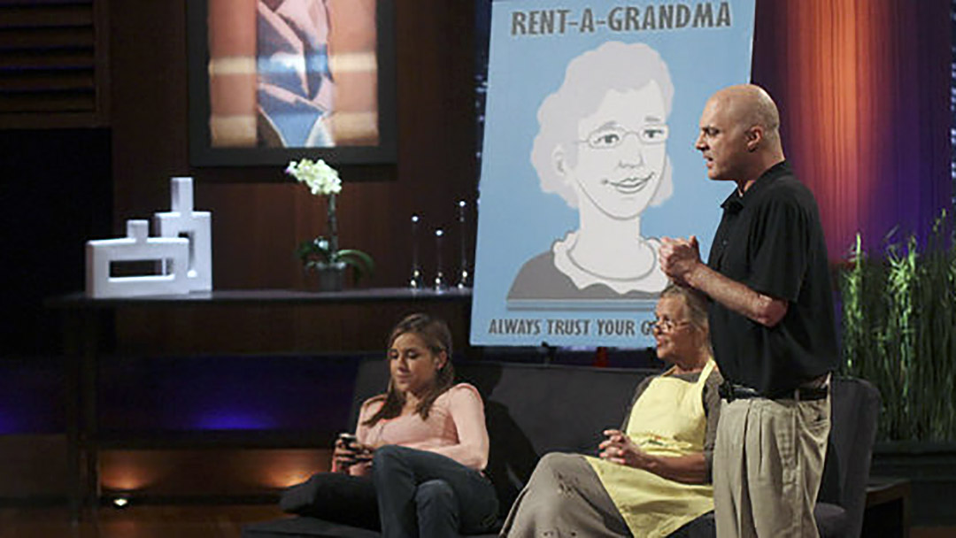 Rent-a-Grandma Grandmother Sitting Service in Shark Tank but No Deal