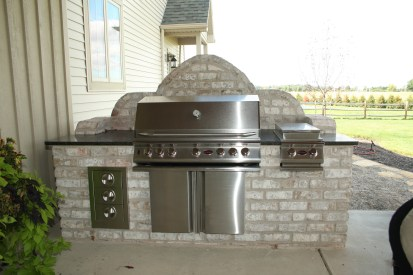 6-Sylvania-BBQ island-stainless drawers-cabinet-sideburner-brick