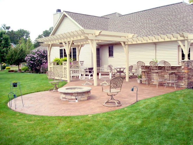 7-Western Red Cedar pergola-stained to match house