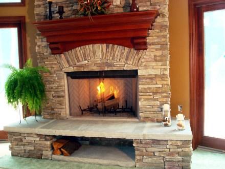 Stone Fireplace-Ottawa Hills