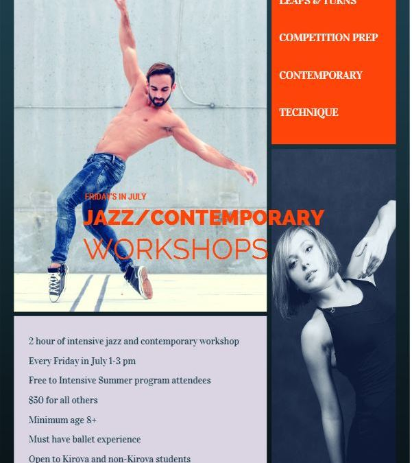 Jazz and contemporary dance workshops