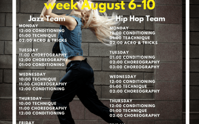 Dance team intensive week August 6-10