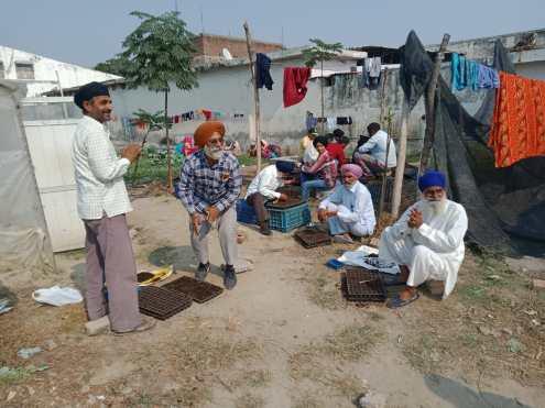 Freiwillige indische Helfer