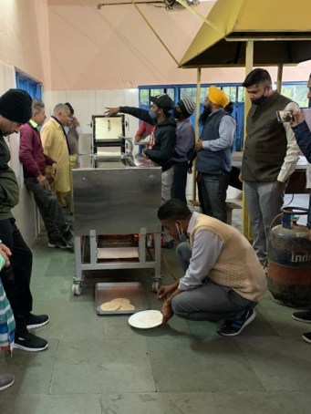 the new Chapati machine