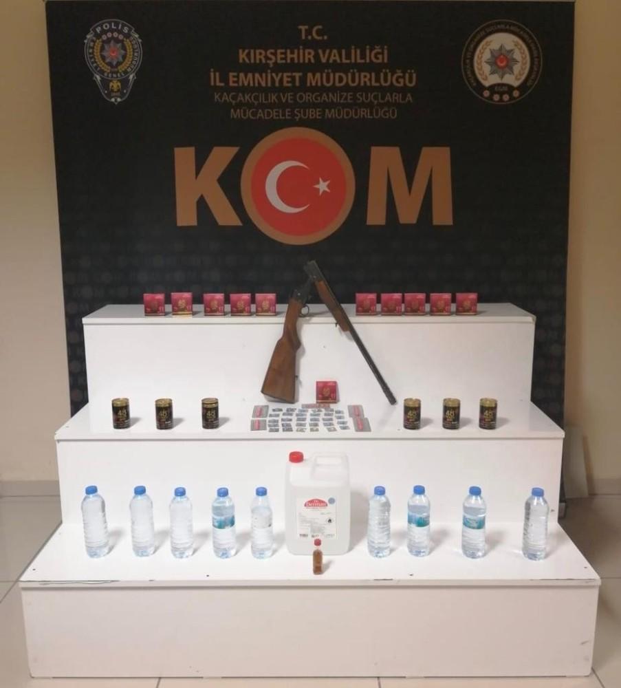 Kırşehir'de sahte içki operasyonu