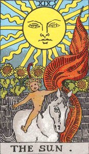 rider waite tarot the sun