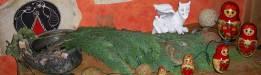Drachenmutter und matrilineare Ahninnenreihe, Casa Narnaja, Riedenburg (Bayern)