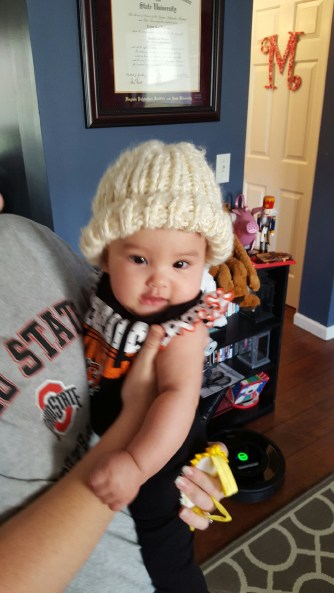Sweet cousin with her new hat!