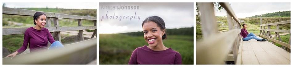 Three photos of teenage girl