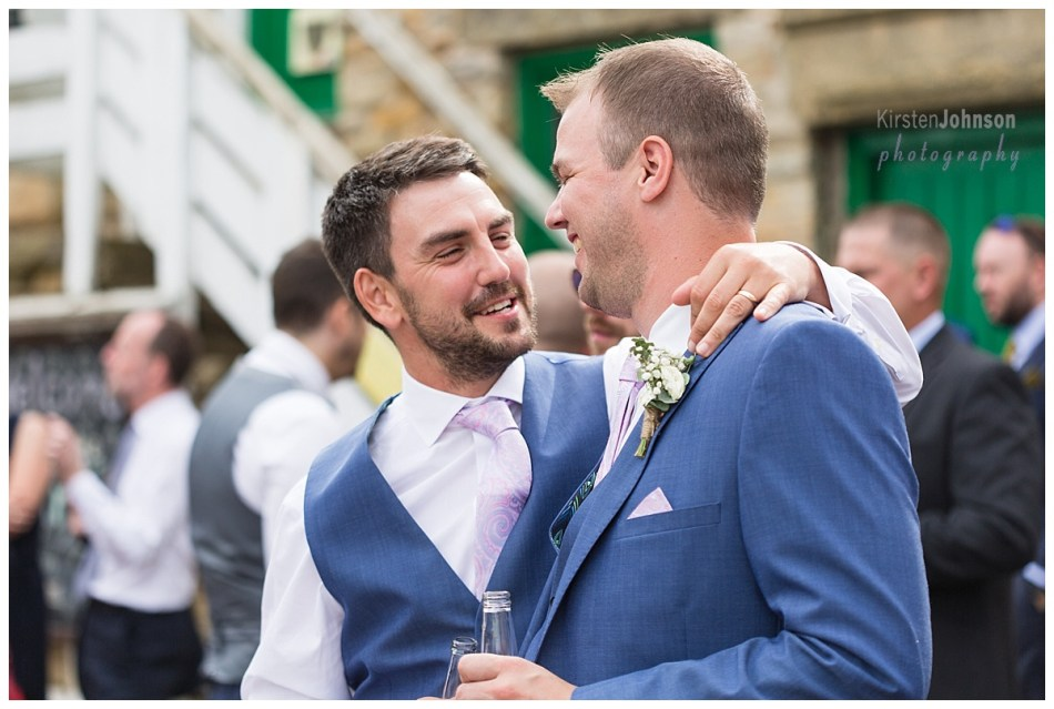 groom with friend