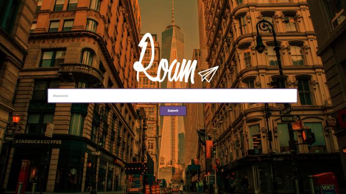 RoamNYC landing page