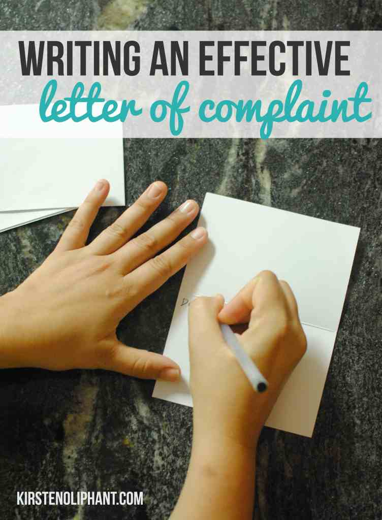 How to write an effective letter of complaint