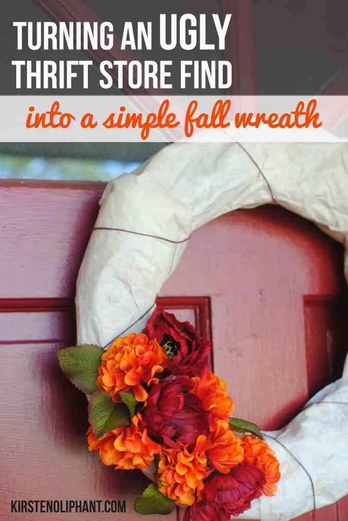 Budget Decor: Thrifty Wreath Makeover