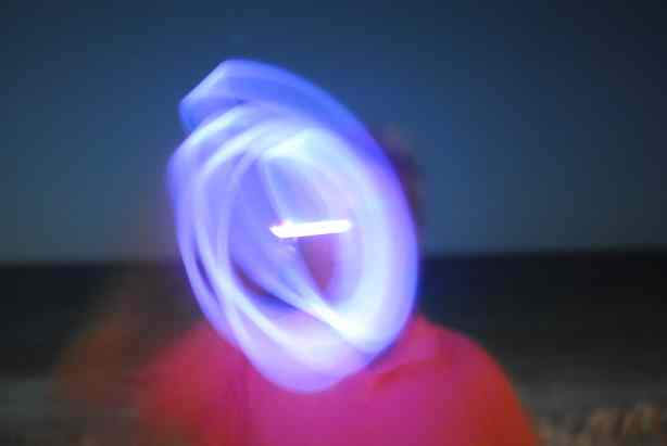 Glow stick photos with slow shutter speed.