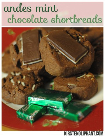 A delicious and simple mint chocolate shortbread with Andes mints. Plus only six ingredients!