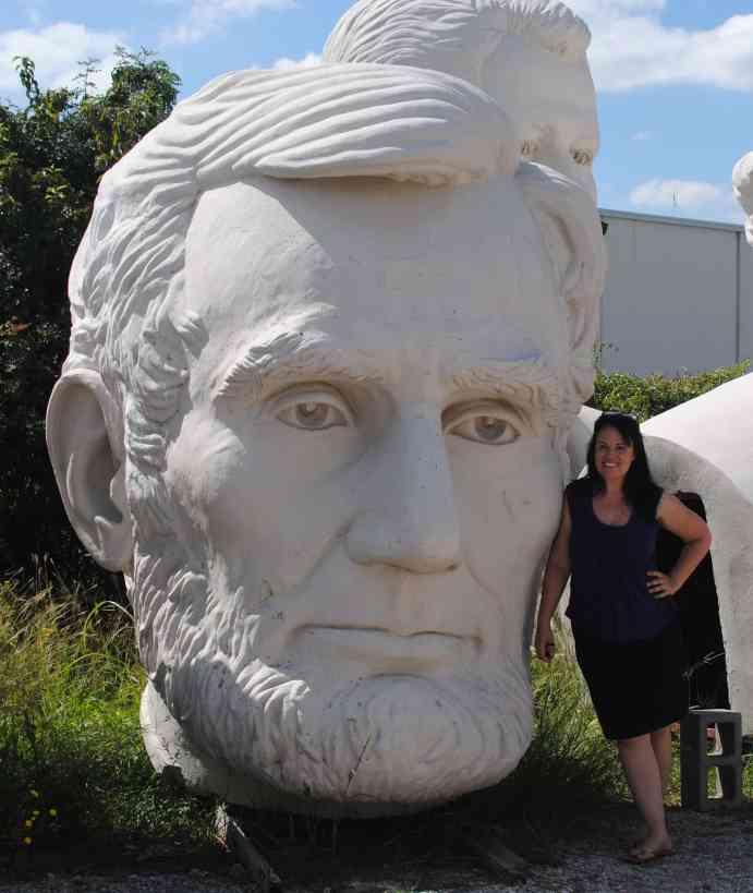 Adickes Scuplpturworx in Houston, home to giant presidential heads.