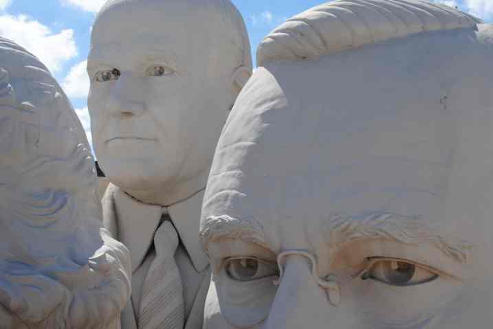 Presidential heads at the Adickes Sculpturworx Studio.
