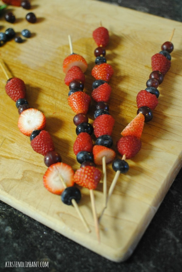 Fruit on a stick! Simple and easy way to make fruit even more fun.