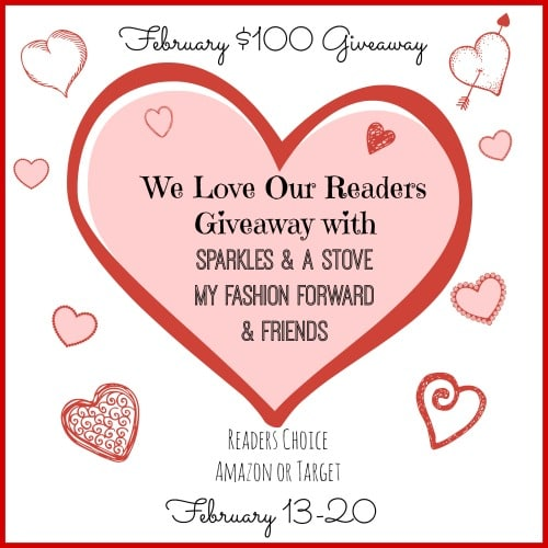February Giveaway with Sparkles and a Stove