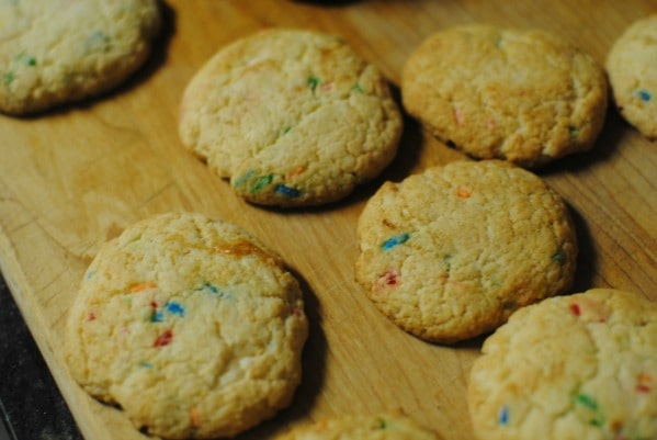 Easy cookies made from a cake mix.