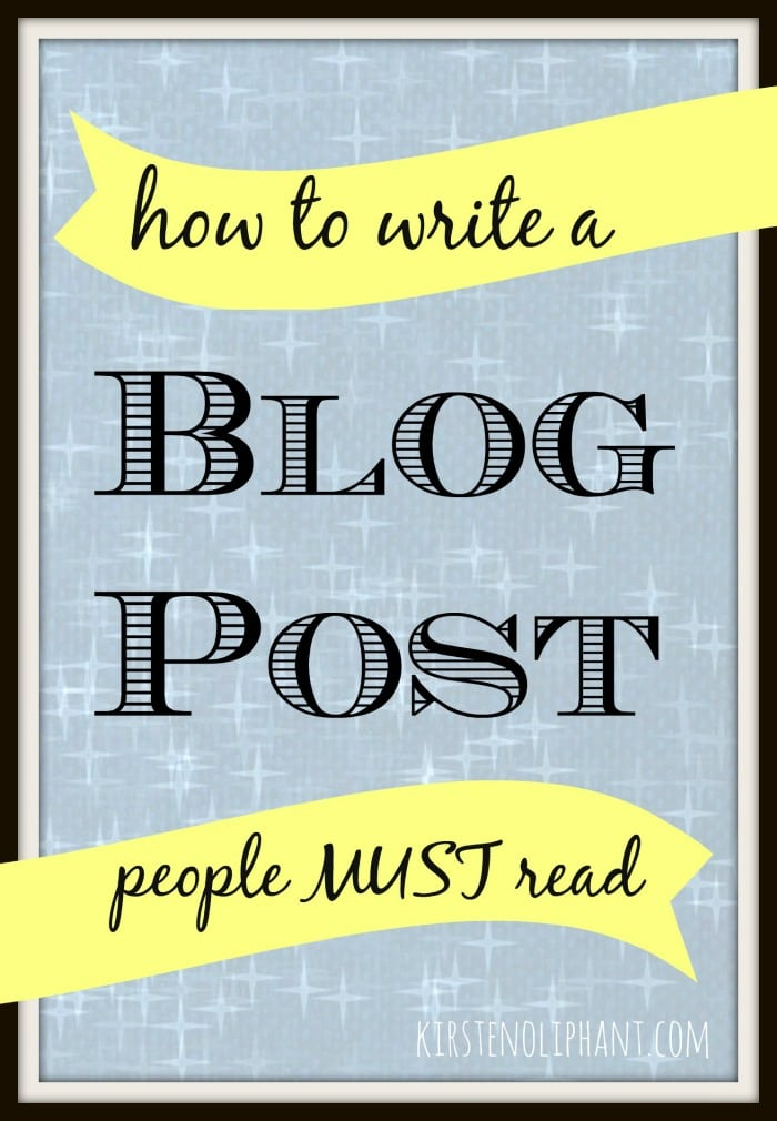 What does it take to write a post that keeps people reading and coming back for more?